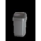 Avfallsdunk Addis m/rullelokk 48 ltr Sølv