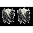 Børstesett X-46 grov nigrit/tynex