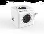 Powercube Original stikkkontakt grå m/USB
