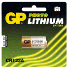 Batteri GP CR 123 FOTO Lithium