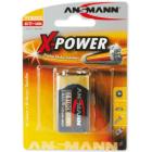 Batteri Xpower alkalisk 6LR61 stk