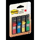 Post-it Index 683-4 liten rød/gul/bl/gr