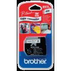 Brother merketape MK221BZ 9mm sort/hvit