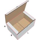 Kjøtteske 5 kg Hvit/Brun 380x278x133mm