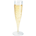 Duni plastglass m/stett 13,5cl Champagne
