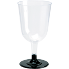 Duni plastglass m/ sort løs stett 20 cl.