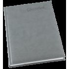 Grieg gjestebok A4 ulinjert grå
