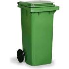 Beholder m/ lokk 120 ltr grønn, utendørs