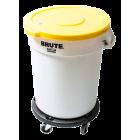 Beholder 76 liter rund (u/lokk) hvit