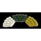 Diamantskive 400 grit gul velcro