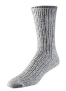 Sock Ready Warw 2 pair/pac 43/46 Grey M