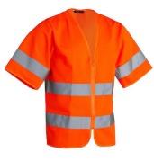 Vest Worksafe Uni Zip cl3 HV Cl3 Ora S/M