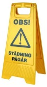 Cleaning Accessory Safety Sign Wet Floor