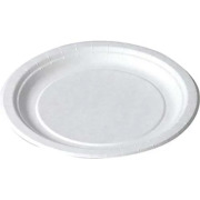 Asjett papp rund, Hvit, Ø 150 mm
