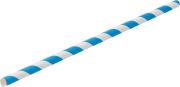 Sugerør papir, blå stripe, 20cm