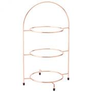 Copper 3 Tier Plate Stand (42cm)