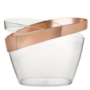 Copper Banded Champagne Bucket, 30.5cm