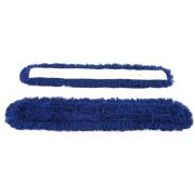 Saksemopp syntetisk blå 100cm