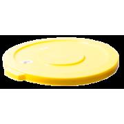 Lokk til 76 ltr rund beholder, hvit