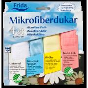 Frida microfibersett 4 farger, Svanemerket