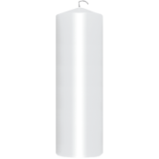 Stearinlys kubbe hvit. 220x70mm 95 timer