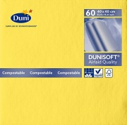 Serviett Dunisoft 40x40 Gul