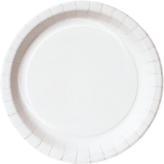 # Duni papptallerken flat 18 cm hvit Basic