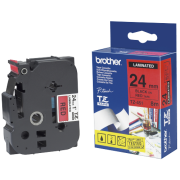 Brother Tape TZ451 sort/rød 24mm
