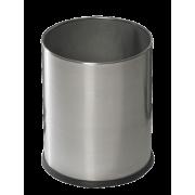 Avfallsbøtte rund D:24 x H:30 cm børstet stål