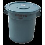 Beholder 38 liter rund (u/ lokk) grå