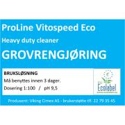 Etikett Vitospeed Eco - bruksløsning