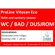 Etikett Vitosan Eco - bruksløsning