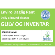 Etikett Enviro daglig rent - bruksløsning
