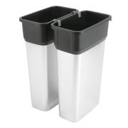 Geo avfallsbeholder 70 l, metall/sort