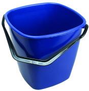 Bøtte firkant 9,5 liter blå