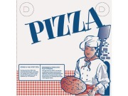 Pizzaeske 310x310x40mm nøytral