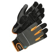 Assembly glove, synthetic WS M80 8 Black