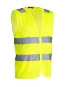 Vest Worksafe Uni. Zip HV Cl2 yel L-XL