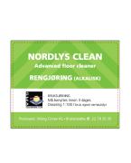 Etikett Nordlys Clean - bruksløsning