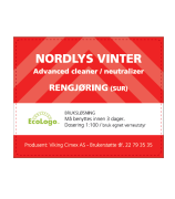 Etikett Nordlys Vinter - bruksløsning