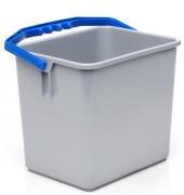 Bøtte grå m/blått håndtak 6 liter
