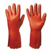 Beskyttelseshanske EURAL vinyl 8 rød