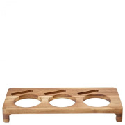 Acacia Presentation Stand to hold 3 Serving Dishes