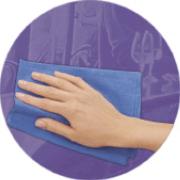 Pusseskinn Proff 39 x 55 cm (blå)