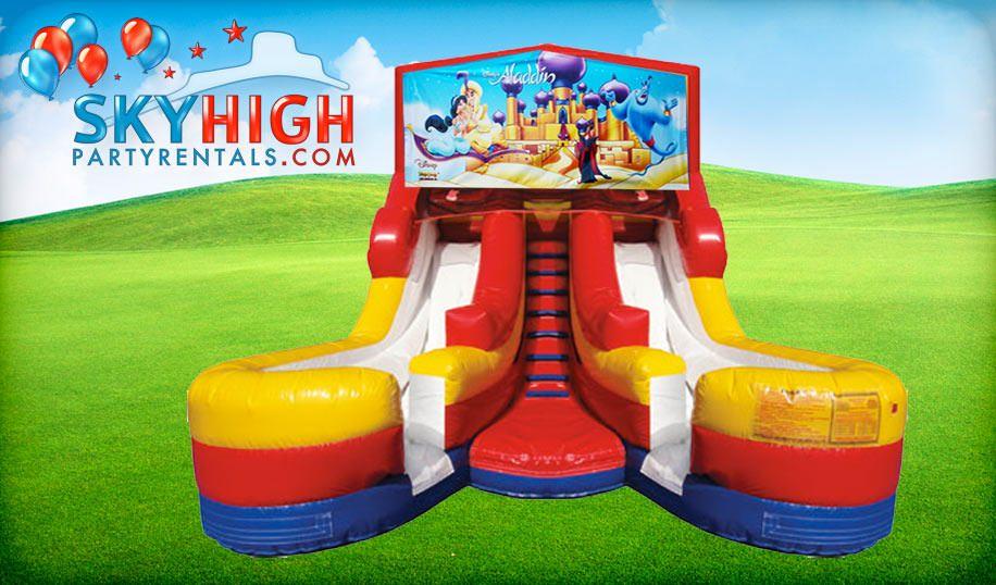 16ft Dual Lane Water Slide Aladin Them