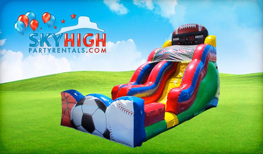Basketball Football Inflatable Slide