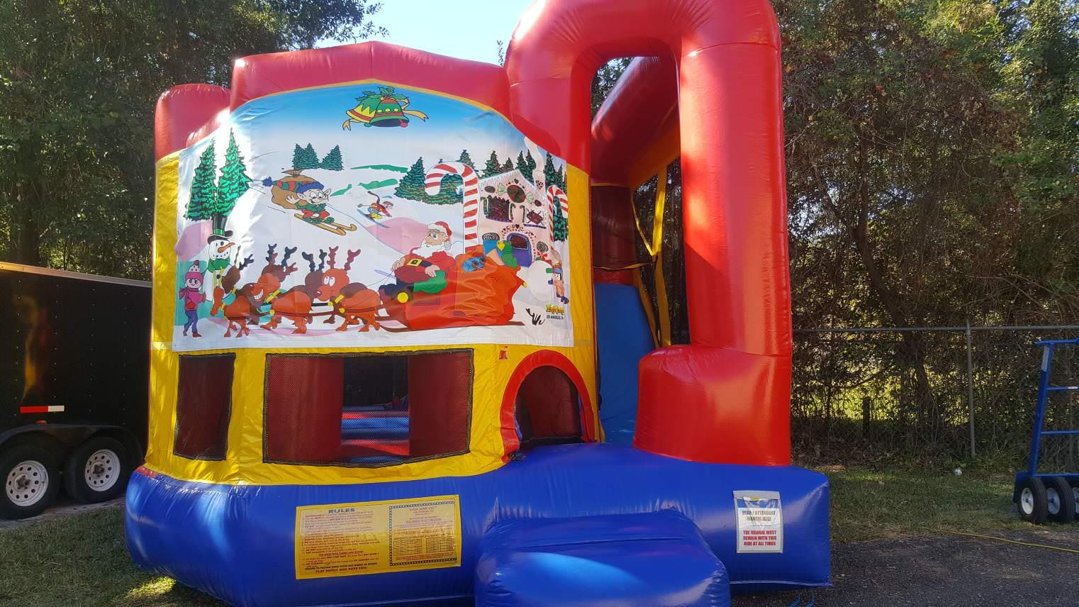4in1 Christmas Bounce House Moonwalk Rentals