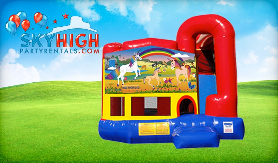 4in1 Unicorn Bounce House Rental