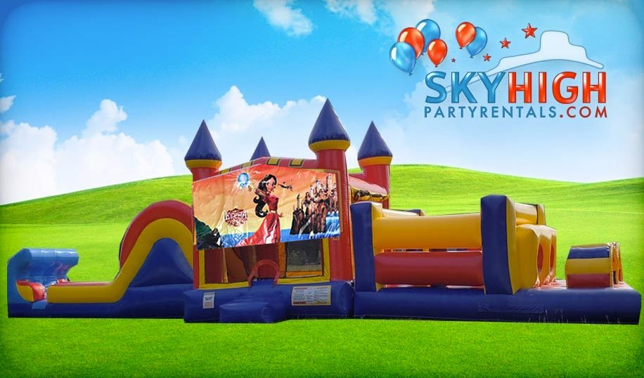 50ft Elena of Avalor Obstacle w/ Wet or Dry Slide