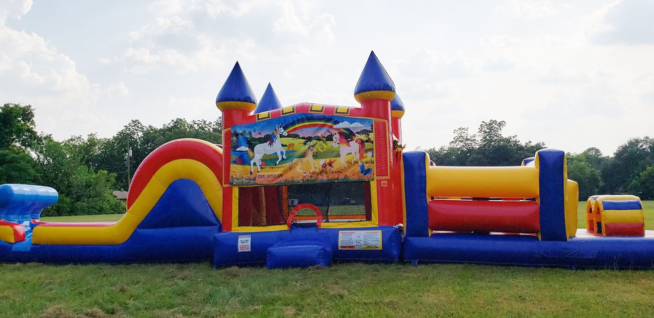 50ft Unicorn Inflatable Obstacle